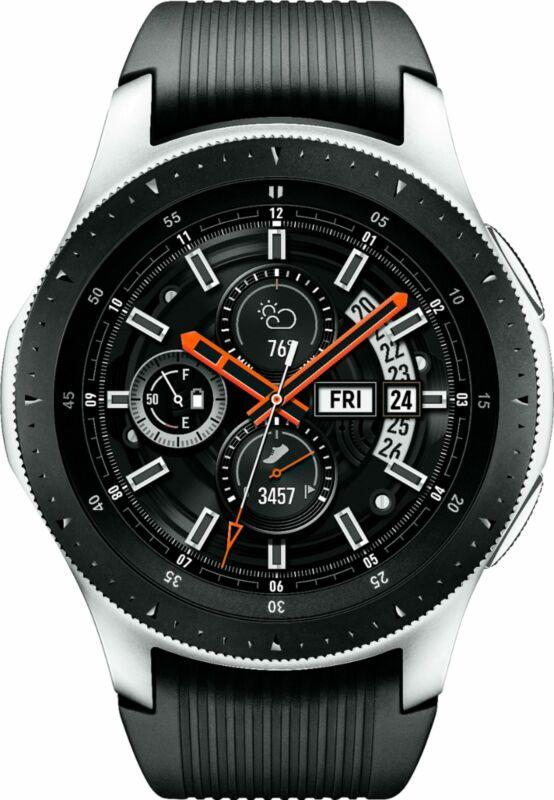 Samsung - Galaxy Watch Smartwatch (46mm) SM-R800 Stainless Steel - Silver