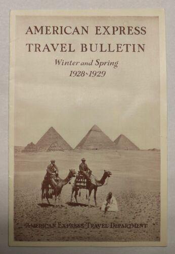 10/25. American Express Travel Bulletin Winter Spring 1928-1929 Travel Brochure