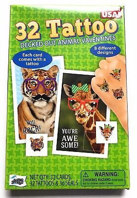 Animals With Tattoos (New 32 Decked Out Animal With Tattoos Valentine Cards By Mello Smello)