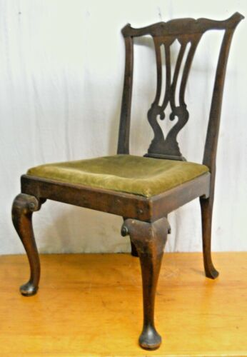 Antique Cr.1770 Queen Anne Mahogany Side Chair Possibly American Original Finish
