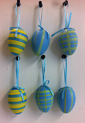 12 Easter Eggs, Decoration with Ribbon - For Easter Tree - Wreath - Basket](Easter Egg Baskets)