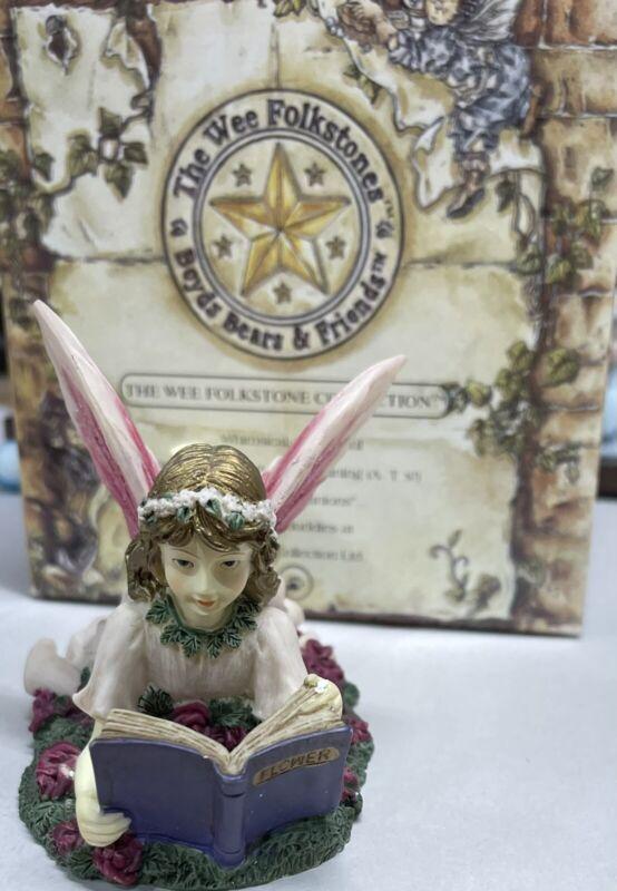 "Boyd's Bears The Fairy Coll Figurine ""Flower Study"" Dezine 1996 Wee Folkstones"