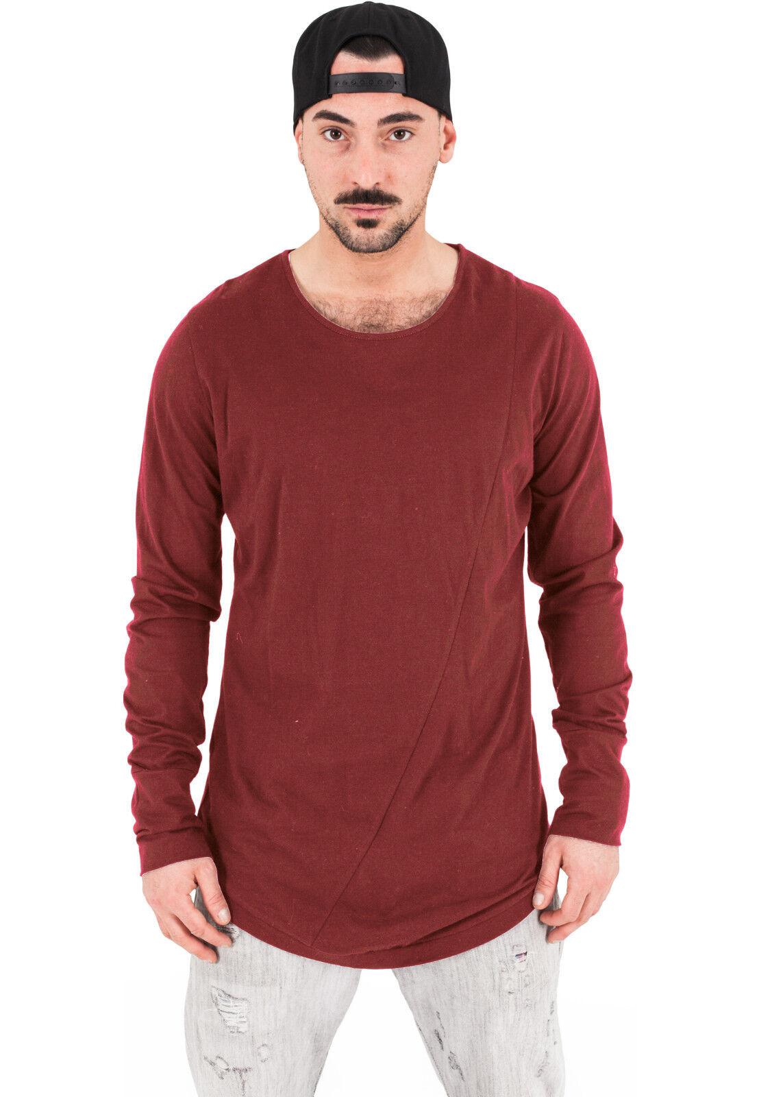 c25a6b6b8c4a Urban Classics Herren longsleeve Shirt extra lang long Shirt ...