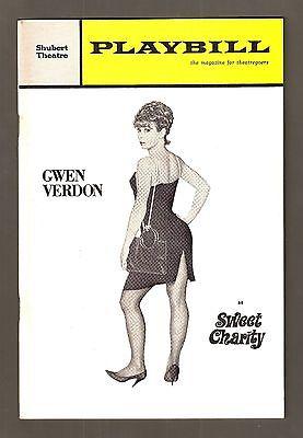 "Gwen Verdon ""SWEET CHARITY"" Cy Coleman / Helen Gallagher 1965 Tryout Playbill"