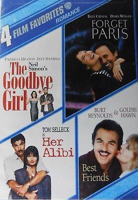 4 ROMANTIC Comedies HER ALIBI FORGET PARIS The GOODBYE GIRL BEST FRIENDS