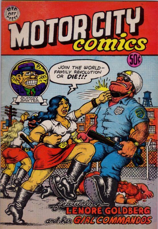 Motor City Comics, 1969, Robert Crumb Productions, Detroit
