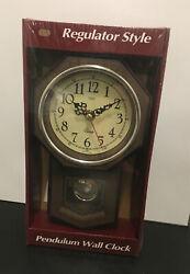 New Tozai Regulator Style Pendulum Wall Clock