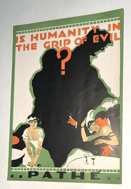 THE GRIP OF EVIL - Rare 1916 BALBOA FILM Silent Movie PATHE Serial TRADE AD