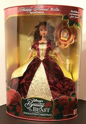 Disney Barbie Doll Beauty and the Beast Holiday Princess Belle 1997 NRFB