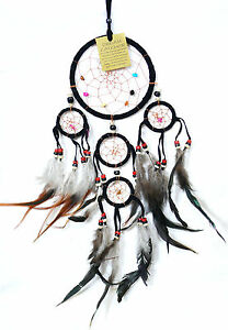 attrape r ve capteur de r ves dreamcatcher dream catcher attrapeur noir pi ge ebay. Black Bedroom Furniture Sets. Home Design Ideas