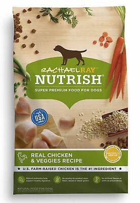 Rachael Ray Nutrish Natural Dry Dog Food, Real Chicken & Veggies Recipe, 40 lb