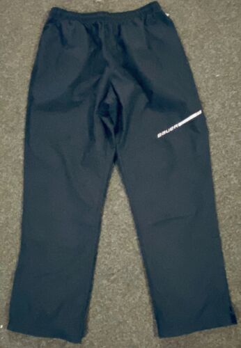 Bauer Team Light Weight Warmup Hockey Pants Ankle Zipper Black Large 37.5