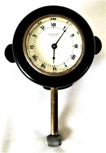 """dashboard mount Automobile Car CLOCK, Waltham Watch Co, model 1910, 3"""" dia"""