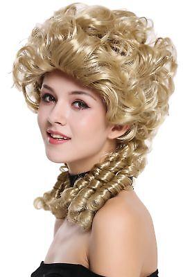 Renaissance Perücke (Perücke Damen Karneval Barock Renaissance Romantik Spiral Locken toupiert Blond )