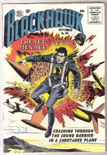 BLACKHAWK #104, 1956 QUALITY, VG CONDITION