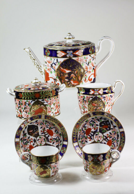 Royal Crown Derby Bird Imari Tea sets Teapot Creamer Sugar bowl 1877