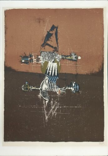 "Johnny Friedlaender ""haarlem"" C.1965   Rare Signed Print   Others Avail  Gallart"