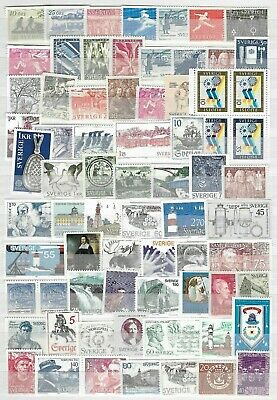 SWEDEN, 71 + Unused Unsorted Stamps. (b)