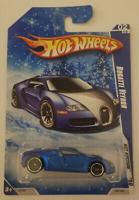 Hot Wheels 2010 Hot Auction Bugatti Veyron Target exclusive Snowflake card 02/10