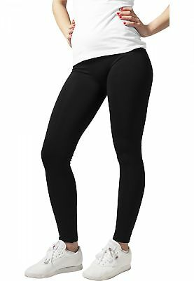 Urban Classics Damen Ladies PA Basic Leggings Schwarz Stretch Hose Schwarz TB604 Basic Leggings