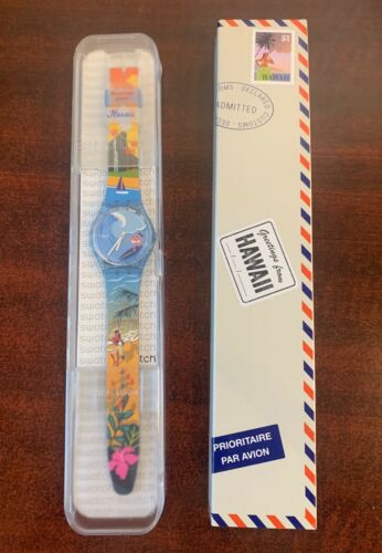 """DESTINATION SWATCH Greetings from HAWAII New in Box GZ339 """"LIMITED"""""""