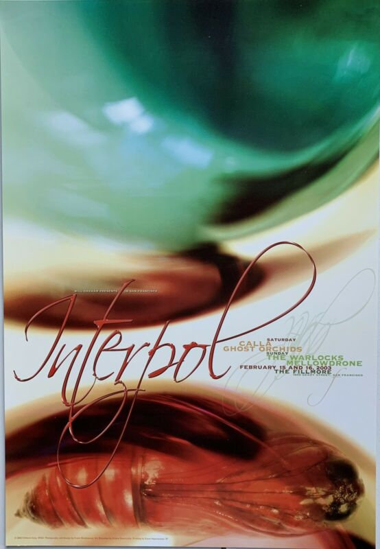 Mint Interpol Fillmore Poster F555 2/15-16/2003 Weidemann