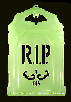 TOMBSTONE DECORATION GLOW IN THE DARK Halloween Decor Party Wall Door New I (Tombstone Decoration)