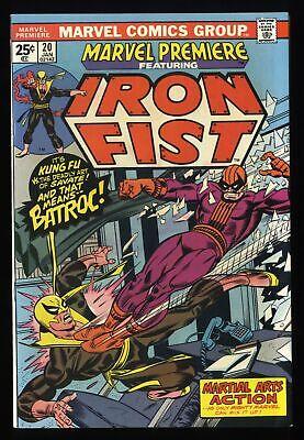 Marvel Premiere #20 NM- 9.2 Comics Iron Fist!