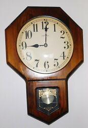Nice Verichron Harris & Mallow Regulator Wood Chime  Clock Quartz Movement Works