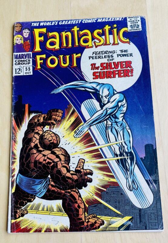 FANTASTIC FOUR #55 Oct 1966 Marvel SILVER SURFER KEY ISSUE