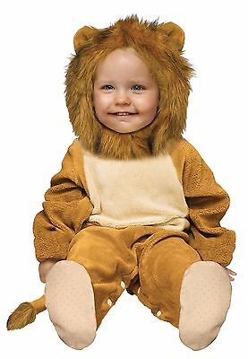 Kids Cuddly Lion Costume Furry Plush Infant Toddler Child Boys Girls 6-12 12-24M