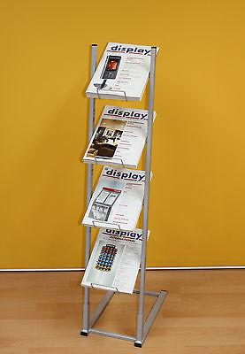 Prospektständer / Katalogständer / Infoständer für DIN A4 HF mit 4 Etagen
