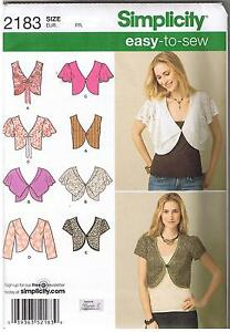 Easy Sew Vest Cropped Jacket Sewing Pattern Sizes 16 24