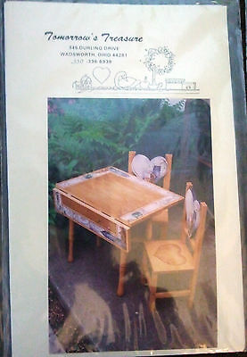 Tomorrow's Treasure Pattern--stan & Bob's Table & Chairs