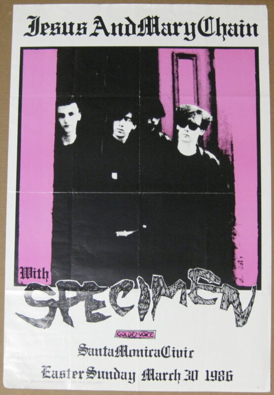 The JESUS And MARY CHAIN Santa Monica Civic 1986 CONCERT POSTER Goldenvoice PUNK