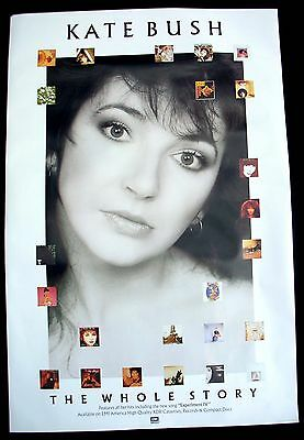 KATE BUSH The Whole Story Promo Poster Mint- USA 1986 ORIGINAL!! RARE