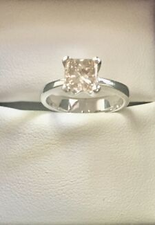 1.01 ct Champagne Diamond Engagement Ring $2000