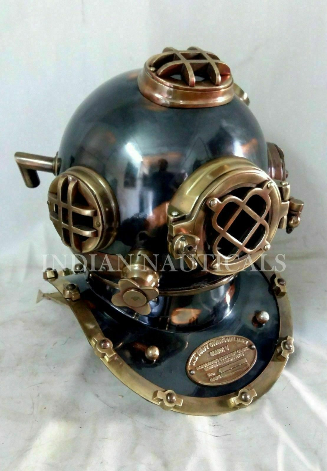 US Navy Mark V Antique Diving Divers Helmet Brass Steel Full Size Maritime Gift - $141.55