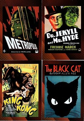VINTAGE POSTER COLLECTION SCI-FI HORROR 2007 BREYGENT BASE CARD SET OF 49 MOVIES