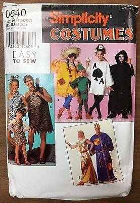 Simplicity Pattern 0640 XS-XL UNCUT Instructions Halloween caveman, egyptian,+](Egyptian Halloween Costumes Plus Size)
