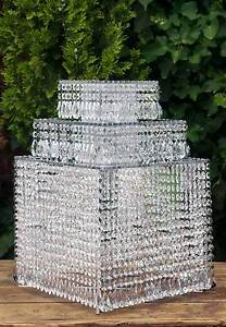 3 Tier Acrylic Crystal Mirror Cake Stand Square Cheltenham Kingston Area Preview