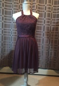 David's Bridal, purple dress, like new