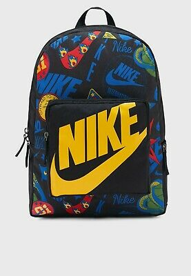 The Nike YA classical music backpack LOGO BA5995-013 youth black AOP BA5995 013