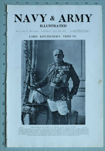1914 WW1 PRINT FIELD MARSHAL SIR JOHN D. FRENCH