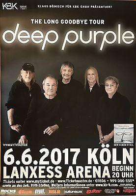 DEEP PURPLE  2017 KÖLN   - orig.Concert Poster -- Konzert Plakat  A1 NEU