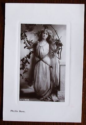 Old sepia real photo stage star Postcard - Phyllis Dare