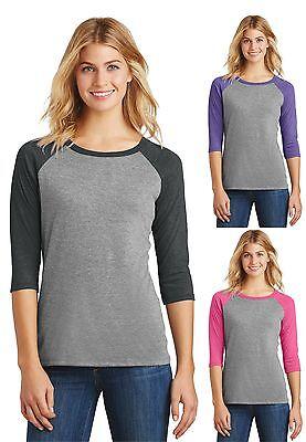 Süße 3/4 Ärmel T-shirt (Neu Damen 3/4 Raglanärmel Hemd Baseball Sport Sommer Süß Komfort Athletic)