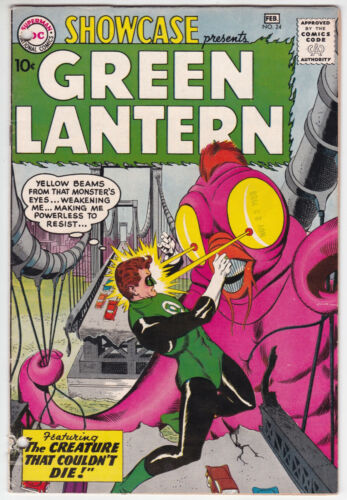 Showcase #24 Good Minus 1.8 Third Silver Age Green Lantern Gil Kane Art 1960