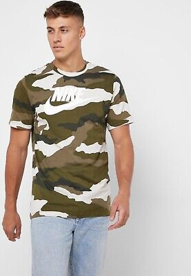 Nike Sportswear Shirt CAMO Military Fashion BV7674-072 Hype ASL ** ALL SIZES NEW