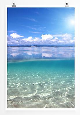 90x60cm Poster  Unter und über dem Meer ()